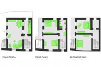 Mappa in pianta casa Pradin a Fetrone
